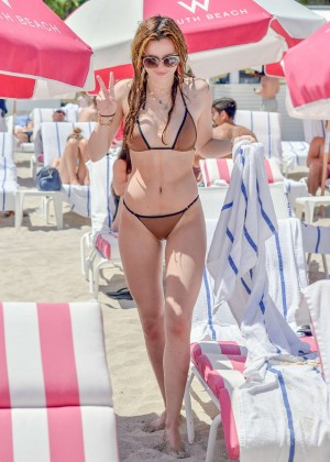 Bella Thorne and Dani Thorne: Hot in a Bikini on the beach in Miami-39