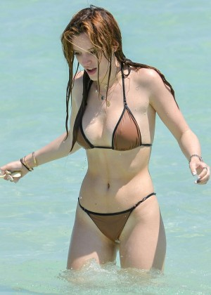 Bella Thorne and Dani Thorne: Hot in a Bikini on the beach in Miami-46
