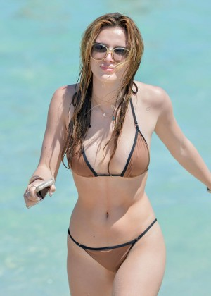 Bella Thorne and Dani Thorne: Hot in a Bikini on the beach in Miami-54