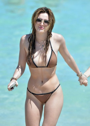 Bella Thorne and Dani Thorne: Hot in a Bikini on the beach in Miami-58