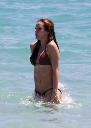 Bella Thorne and Dani Thorne: Hot in a Bikini on the beach in Miami-70