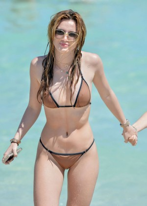Bella Thorne and Dani Thorne: Hot in a Bikini on the beach in Miami-79