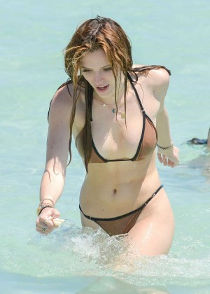 Bella Thorne and Dani Thorne: Hot in a Bikini on the beach in Miami-82