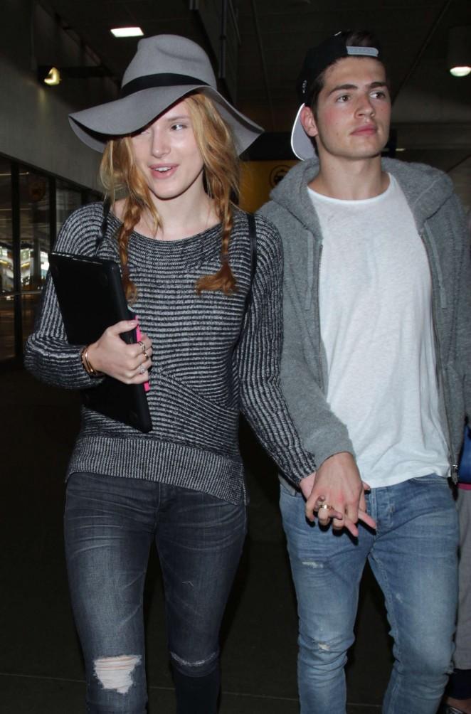 Bella Thorne and Gregg Sulkin at LAX airport in LA