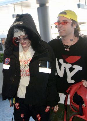 Bella Thorne and Mod Sun at LAX Airport in Los Angeles