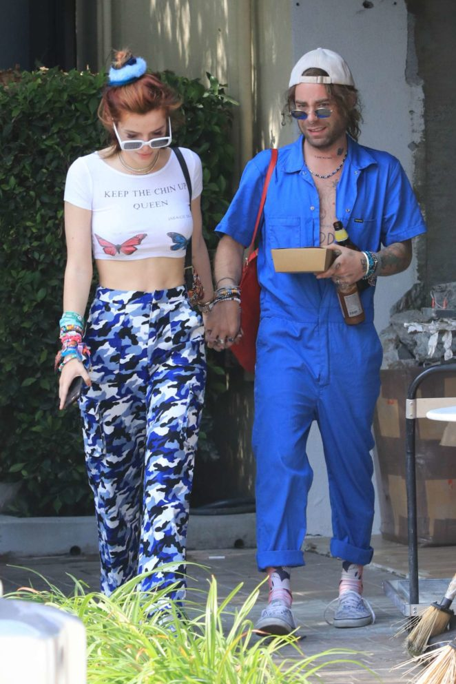 Bella Thorne and Mod Sun go to lunch in Los Angeles