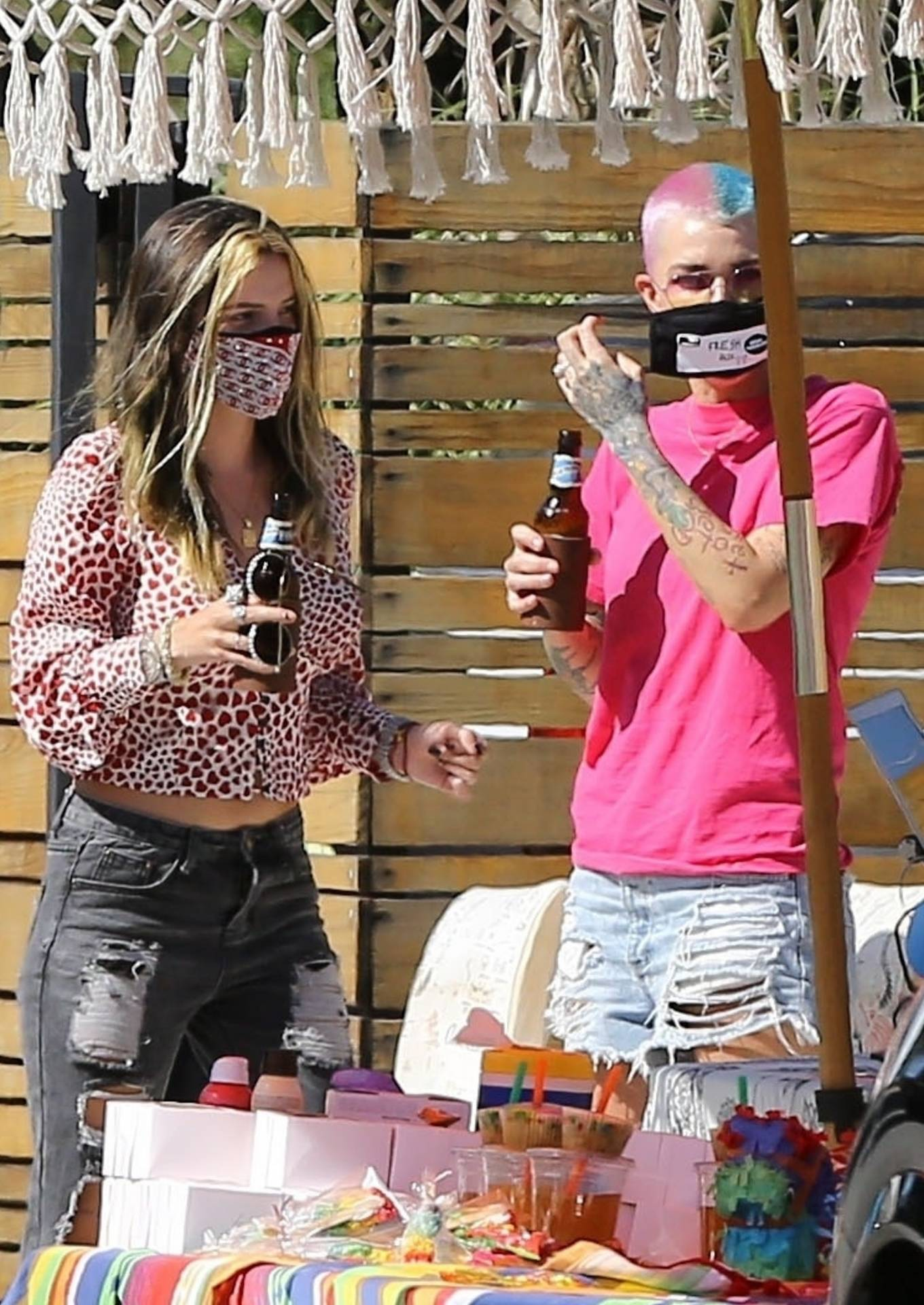 Bella Thorne and Ruby Rose - Attends a birthday party in Studio City