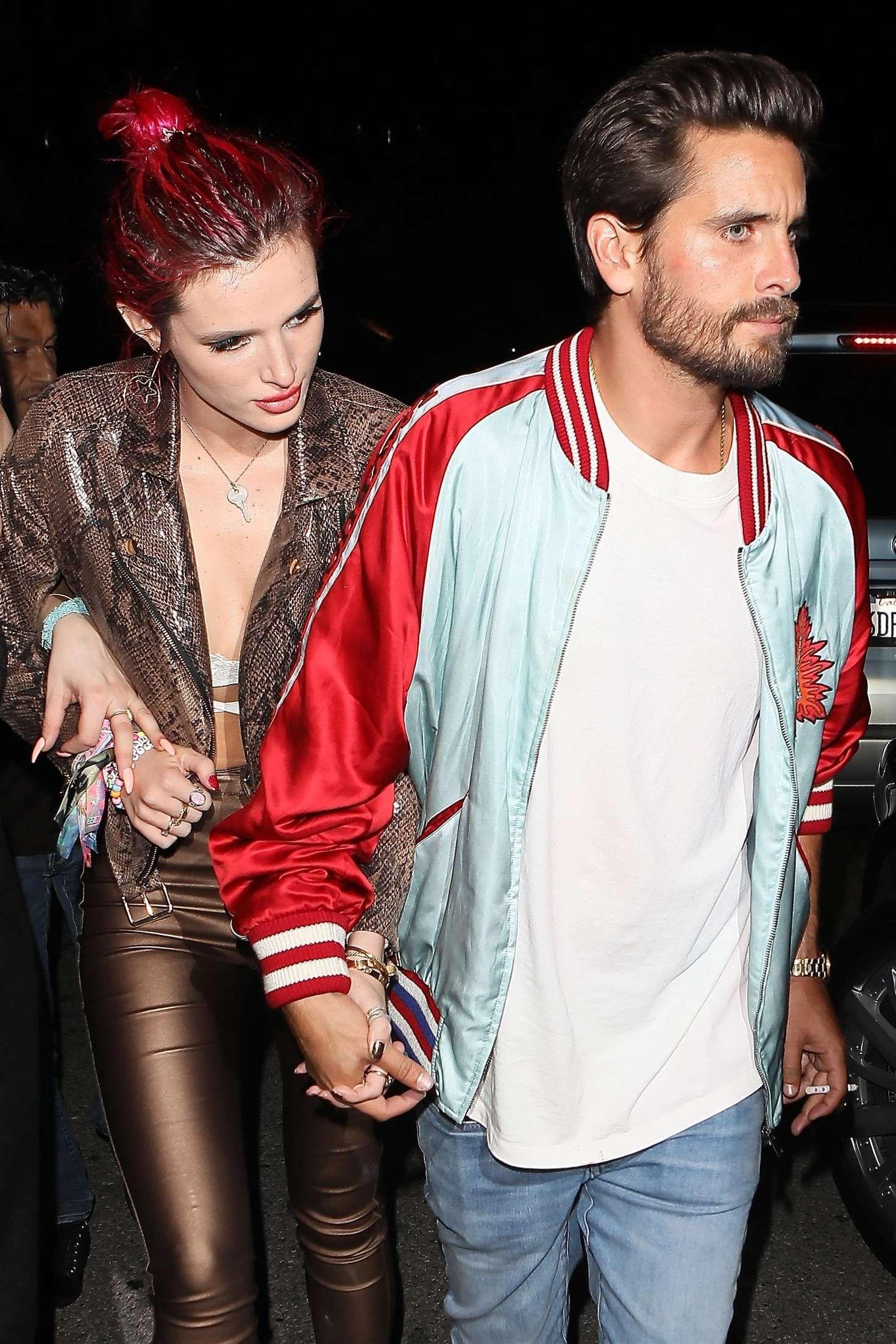 Bella Thorne and Scott Disick Leaving Lana Del Rey's birthday party in LA