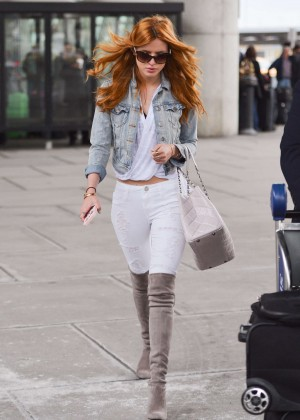 Bella Thorne in Tight Jeans at JFK Airport in NYC