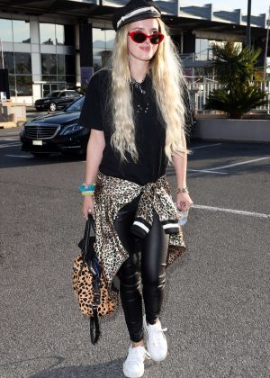 Bella Thorne Arrives at Nice Airport in Cannes