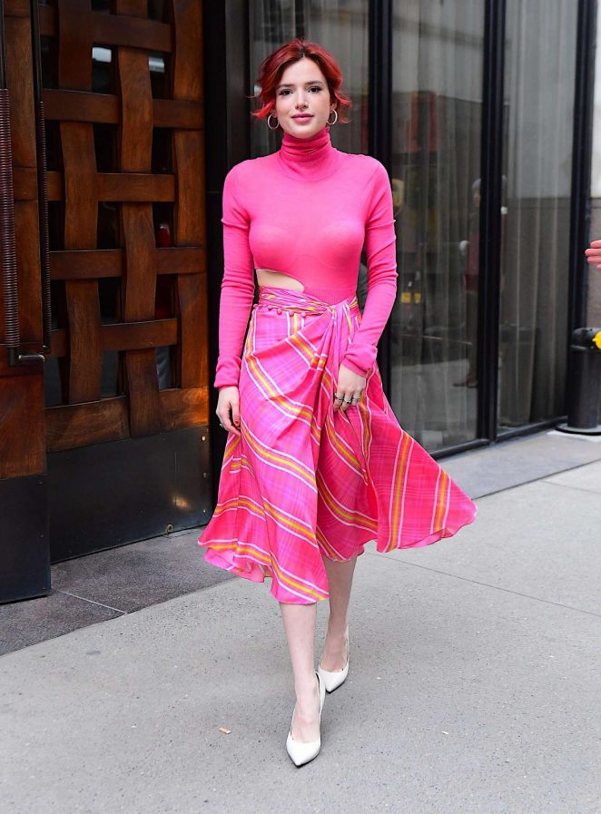Bella Thorne – Arrives at the Tonight Show in NYC