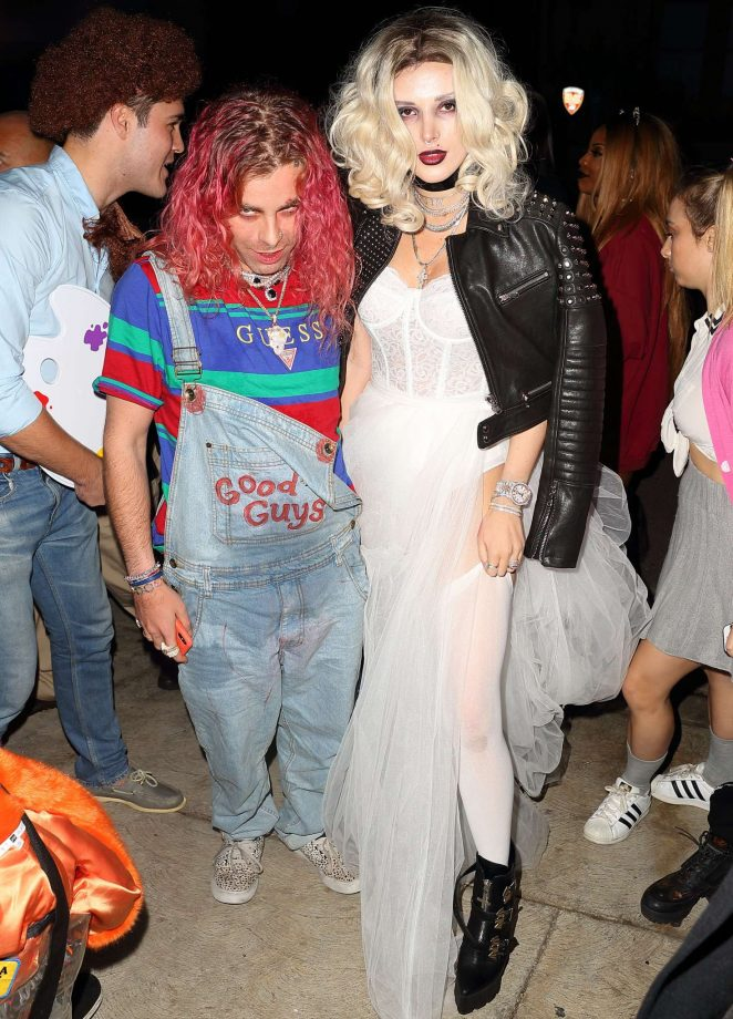 Bella Thorne - Arrives to Halloween party in Los Angeles