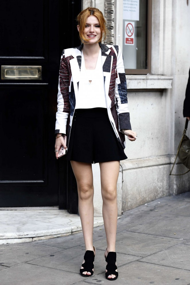 Bella Thorne: Arriving at Bauer Group Radio Studios -01