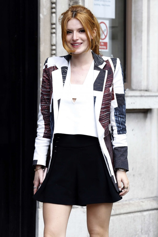 Bella Thorne - Arriving at Bauer Group Radio Studios in London