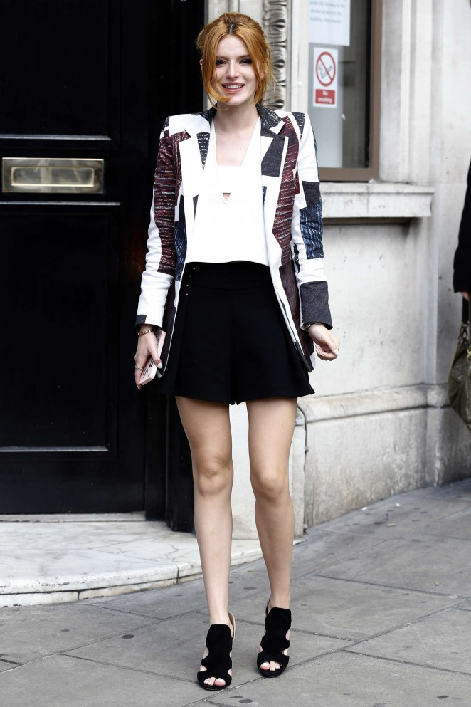 Bella Thorne: Arriving at Bauer Group Radio Studios -04