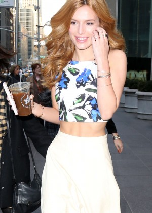 Bella Thorne - Arriving at 'Fox & Friends' in NYC