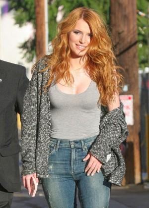 Bella Thorne: Arriving at Jimmy Kimmel Live -02