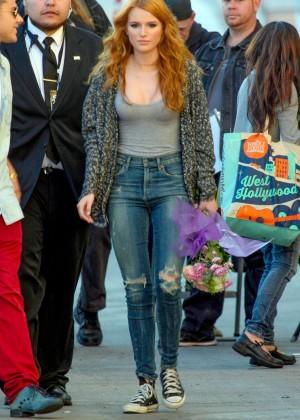 Bella Thorne: Arriving at Jimmy Kimmel Live -03