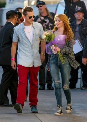 Bella Thorne: Arriving at Jimmy Kimmel Live -04