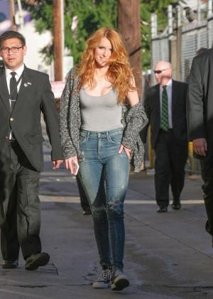Bella Thorne: Arriving at Jimmy Kimmel Live -05