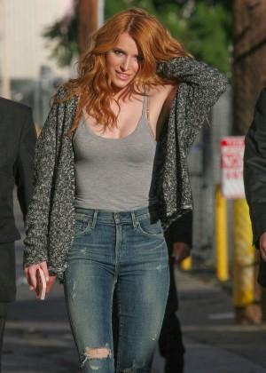 Bella Thorne: Arriving at Jimmy Kimmel Live -10