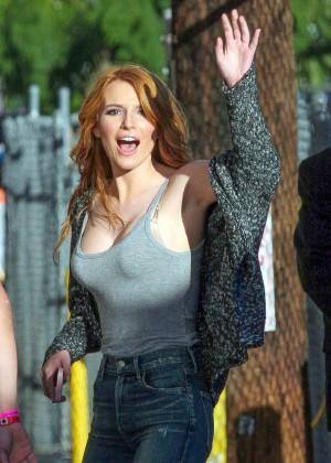 Bella Thorne - Arriving at 'Jimmy Kimmel Live!' in Hollywood