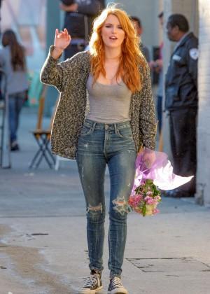 Bella Thorne: Arriving at Jimmy Kimmel Live -15