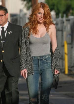 Bella Thorne: Arriving at Jimmy Kimmel Live -16