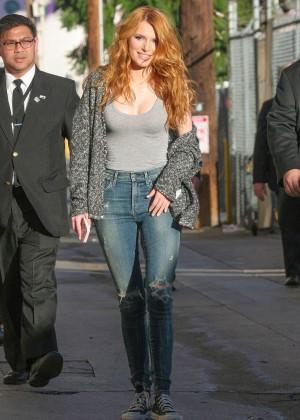 Bella Thorne: Arriving at Jimmy Kimmel Live -27