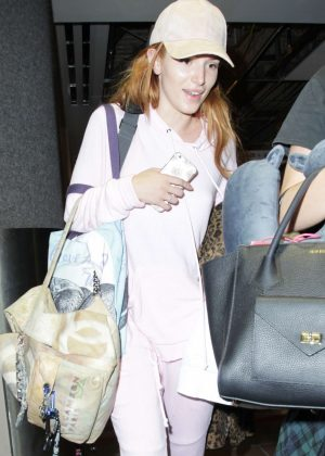 Bella Thorne - Arriving at LAX Airport in LA