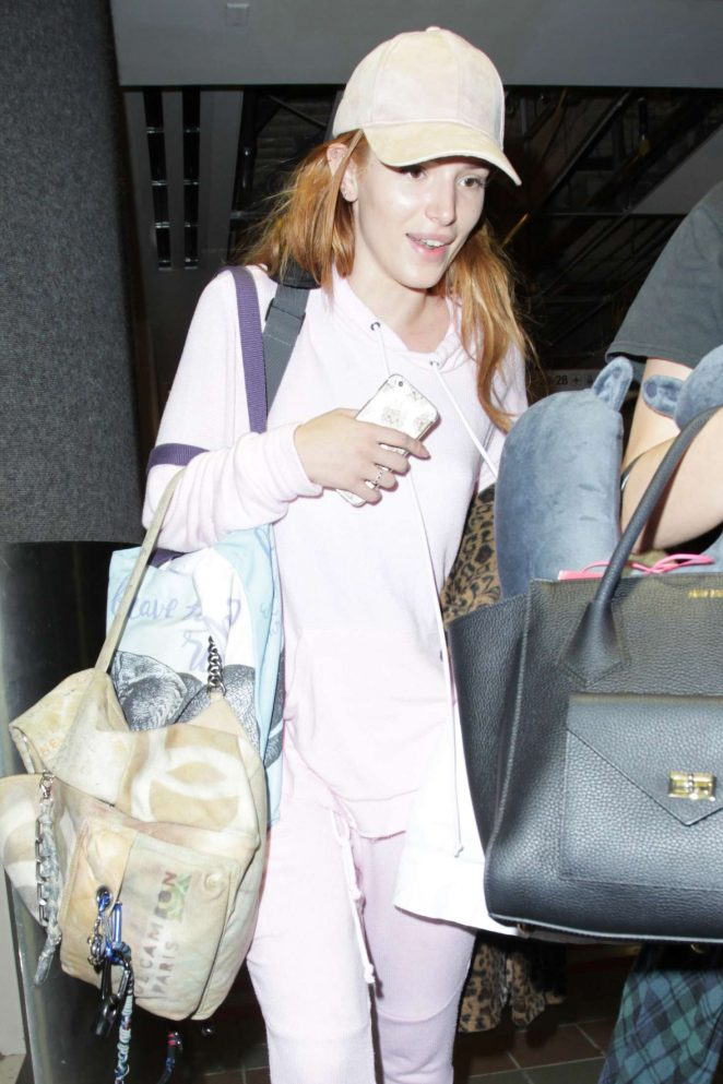 Bella Thorne – Arriving at LAX Airport in LA