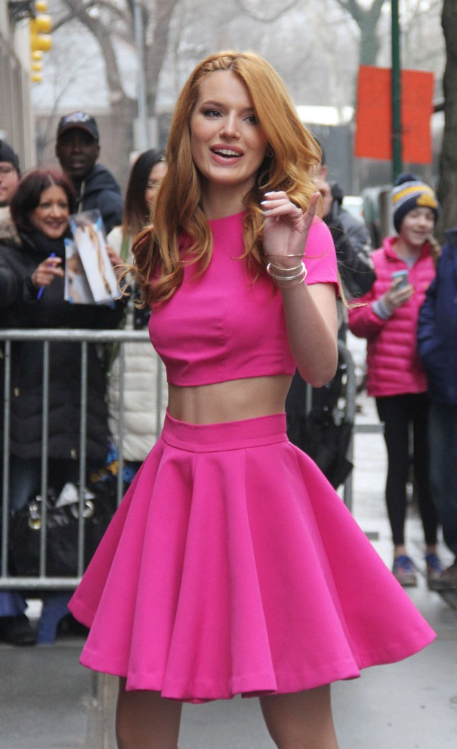 Bella Thorne – Arriving at 'The View' in New York