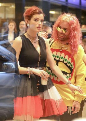 Bella Thorne at a jewelry store in Diamond District NYC