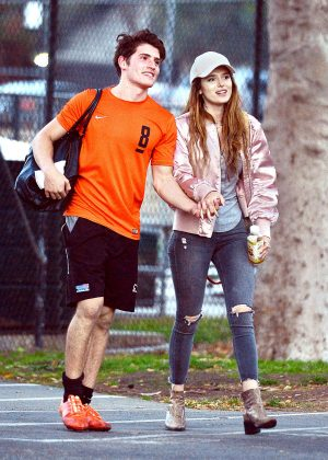 Bella Thorne at a Soccer Game in Los Angeles
