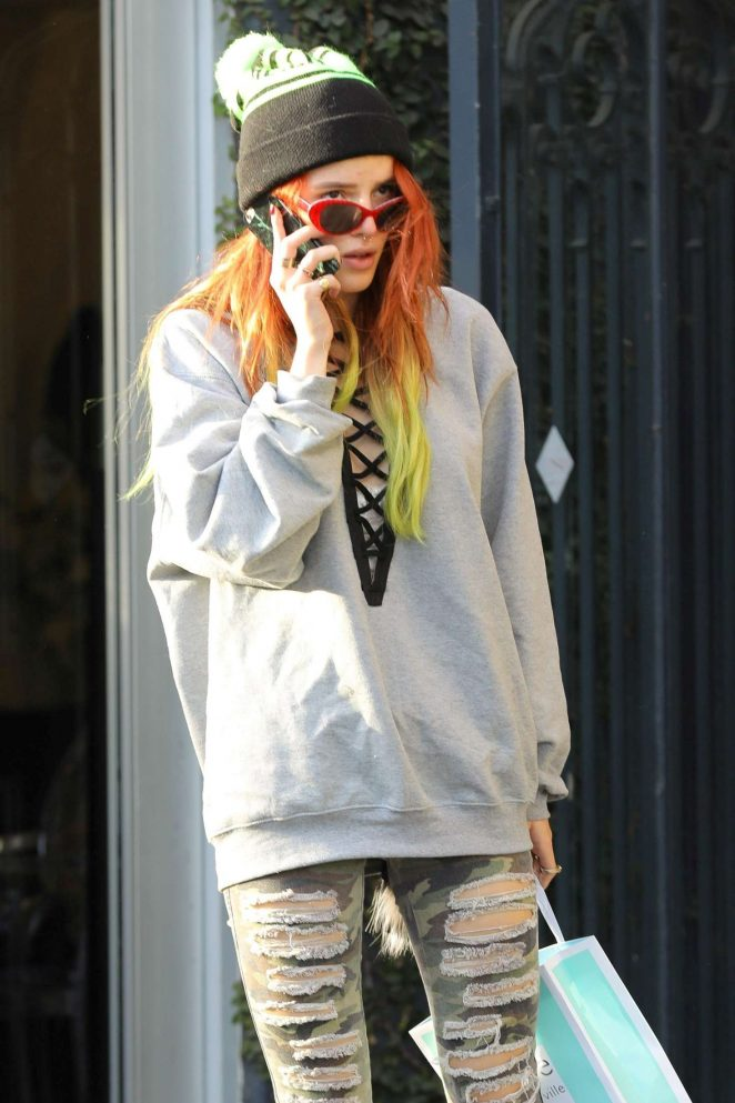 Bella Thorne at Kate Somerville in West Hollywood