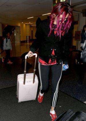 Bella Thorne at LAX Airport in LA
