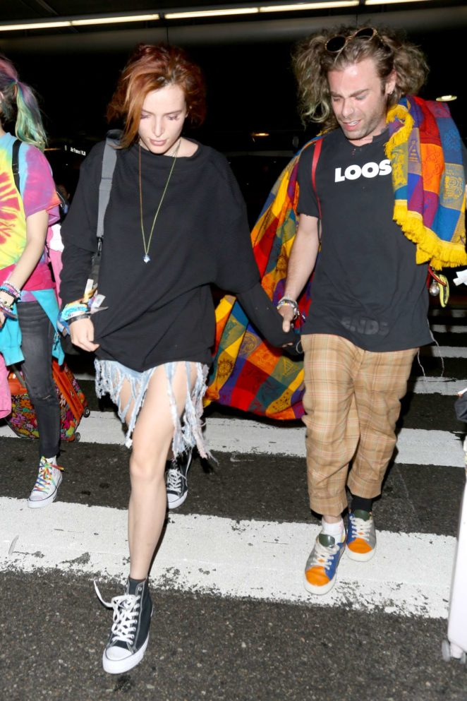 Bella Thorne at Los Angeles International Airport in LA