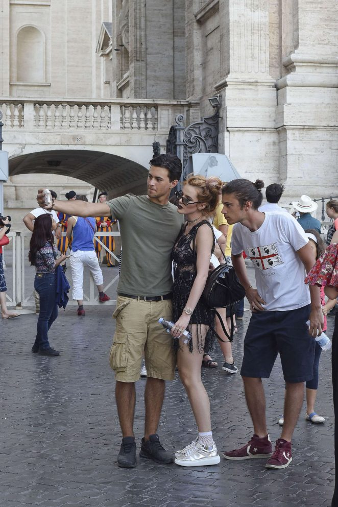 Bella Thorne at St Peters Square in Rome -05