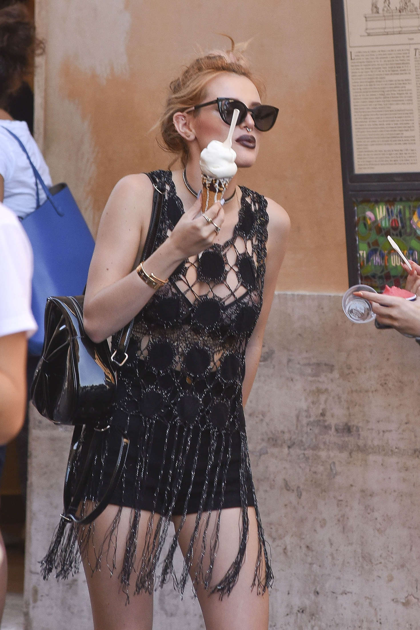 Bella Thorne at St. Peters Square in Rome