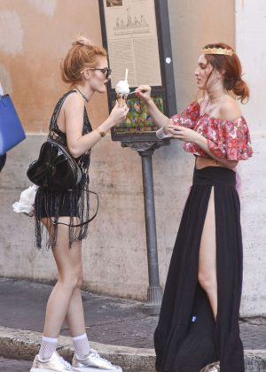 Bella Thorne at St Peters Square in Rome -11
