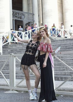Bella Thorne at St Peters Square in Rome -16