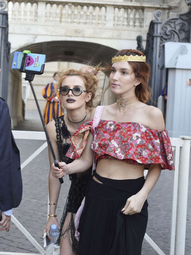 Bella Thorne at St Peters Square in Rome -17