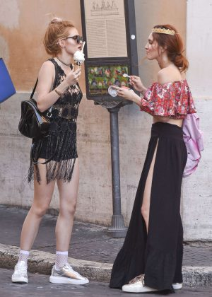 Bella Thorne at St Peters Square in Rome -18