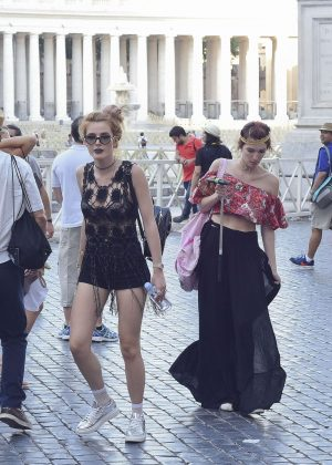 Bella Thorne at St Peters Square in Rome -23