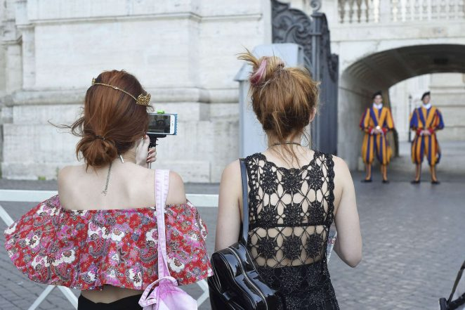 Bella Thorne at St Peters Square in Rome -24