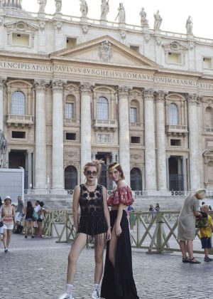 Bella Thorne at St Peters Square in Rome -26