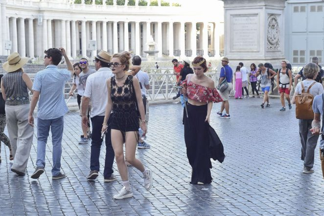 Bella Thorne at St Peters Square in Rome -29