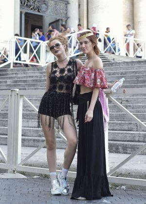 Bella Thorne at St Peters Square in Rome -34