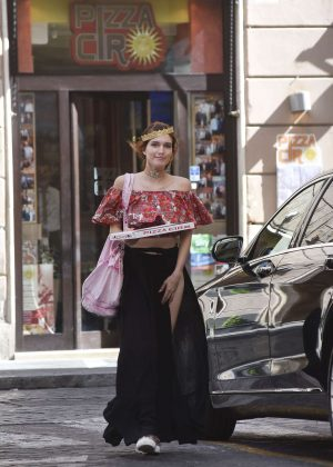 Bella Thorne at St Peters Square in Rome -35