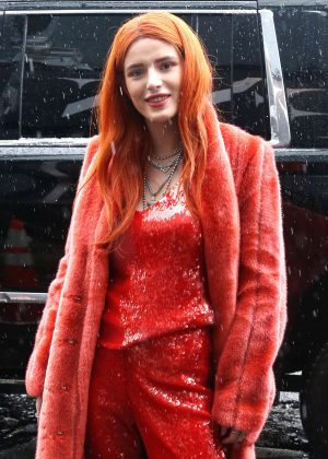 Bella Thorne - Attending the Sally LaPointe Fashion Show in New York